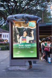 Interactive outdoor for our lovely clients at #RiverSafari. One of the winning pieces in Clear Channel's OOHPIA show.